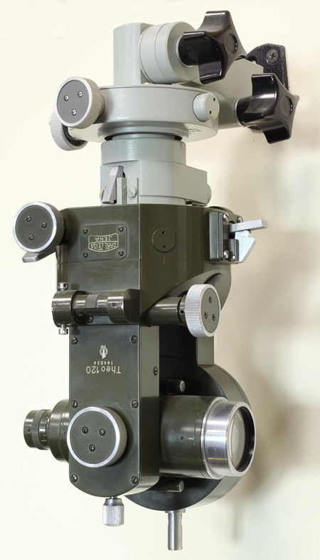 Теодолит оптический маркшейдерский Theo 120. ГДР, Йена, Carl Zeiss. 1960-70-е гг.